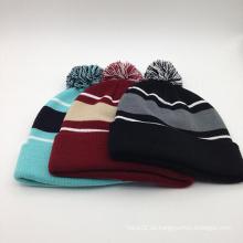 Moda de invierno clásico hecho punto gorrito sombrero (ACEK0118)