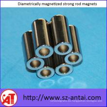 Magnetizado diametralmente imanes de barra fuerte
