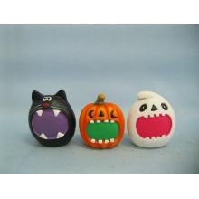 Calabaza de Halloween Arte y Artesanía de Cerámica (LOE2373-6)