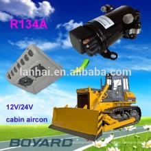 Acessórios elétricos automóveis R134A compressor de ar condicionado elétrico dc 72V / 320V para ar condicionado de carro para baixa velocidade