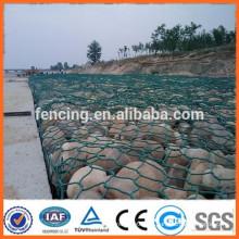 Cesta revestida del gabion del PVC / cesta del gabion para las ventas
