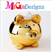 Coronation of The Beautiful Golden Piggy Money Bank