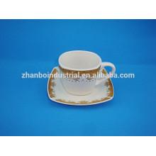 Tazas y platillos de café / té finos de porcelana