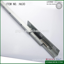 Rebound full extension telescopic guide rail ball bearing