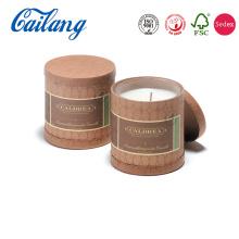 Caja de empaquetado de velas personalizada cilindro