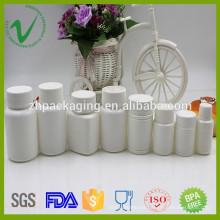 Farmacéutico diseño personalizado blanco HDPE píldora botella de plástico al por mayor