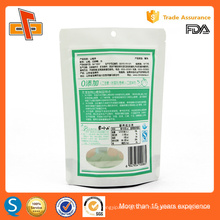 Chinês OEM impressão laminado plástico resealable stand up zip bolsa de embalagem de papel de embalagem
