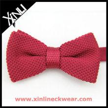 Noeud papillon tricoté rouge, mode féminine Bow-Tie