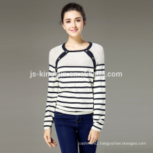 Cotton Sweater Women Round Neck Pointelle Pullover Jumper OEM & Wholesale