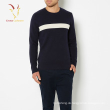 Ausgezeichnete Marine Cashmere Pullover Wolle Pullover für Männer