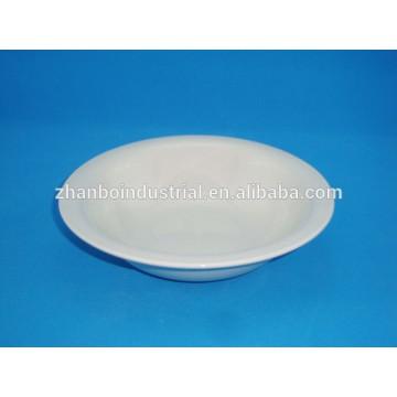Ceramic white porcelain square salad bowl