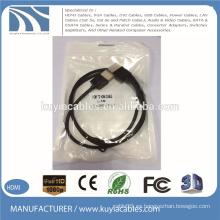 Cable plateado oro de 1.4V HDMI a la ayuda masculina 3D 1080P 1M los 2M