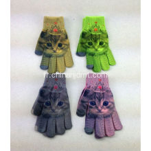 Gants d'impression Magic Cat
