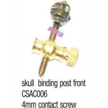 brass skull binding post front for tattoo machine/gun