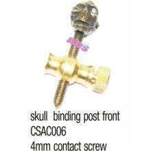 Латунный череп, связывающий столбик для татуировки / пушки