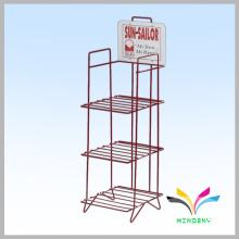 3 prateleiras de ferro forjado de metal rack rack supermercado prateleira para armazenamento a retalho
