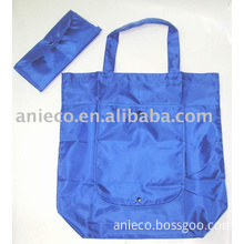 190T polyester folding shopping bag