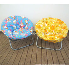 Fashionable folding round beach chairs,small size half moon chair