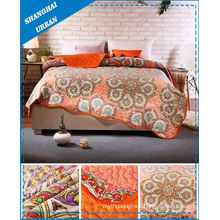 Flower Print Home Bedding Scallop Quilt