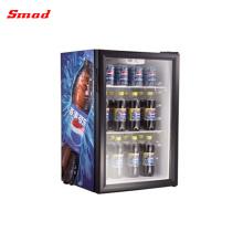 Refrigerador de vidro portátil do refrigerador da barra da exposição do refrigerador do hotel mini