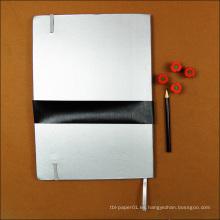 El regalo promocional personalizó el cuaderno de papel reciclado de la escuela / el libro de encargo del diario