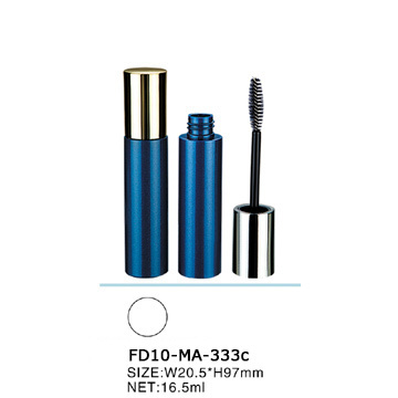 Elegant empty noble mascara tube with metalized