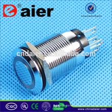Daier interruptor de botón a prueba de agua interruptor de botón de 19 mm