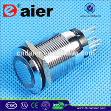Daier 19mm bouton-poussoir étanche interrupteur à bouton-poussoir