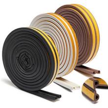 Bandes d'étanchéité en caoutchouc silicone / EPDM auto pour portes en bois / verre