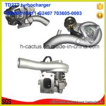 Tb2580 Sobrealimentador 14411-G2407 703605-0003 Turbocompressor para Nissan Td27t