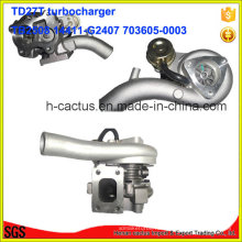 Турбонагнетатель Tb2580 14411-G2407 703605-0003 Турбокомпрессор для Nissan Td27t