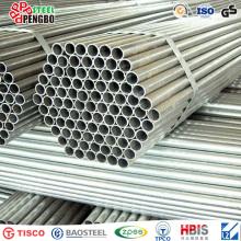 Tubería de aluminio redonda de tubo de aluminio anodizado plata brillante