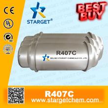 Refrigerante de alta pureza R407c mejor compra en el tanque de tonelada para A / C refrigeración refrigeración