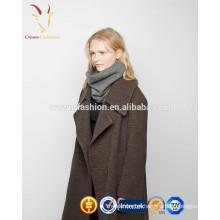 Venda quente cor pura Knitten lenço cinzento