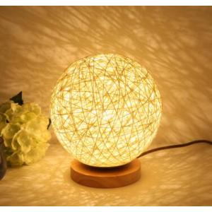 Lovely rope ball table lamp