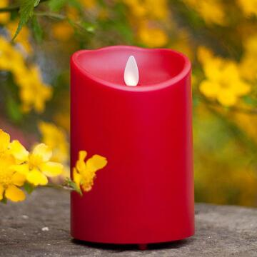 plastik luaran Luminara Unscented Flameless lilin