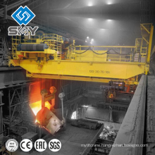 Heavy duty steel factory using 350 ton crane, 350 ton casting crane for ladle lifting