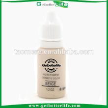 Getbetterlife pigmentos de tatuaje de ceja color Beige no tóxico 15ml