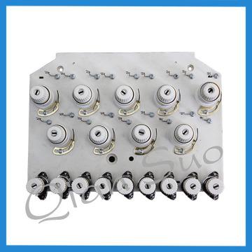 Pièces de machine de broderie de 9 aiguilles Plaque de tension de fil