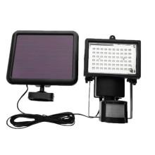 La luz de inundación solar interior al aire libre del sensor de movimiento 60 LED con el sensor de movimiento PIR impermeabilizó la luz de inundación llevada el panel solar