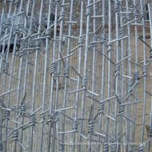 Comprimento do arame farpado por rolo, arame farpado Preço por tonelada, fabricação de arame farpado China