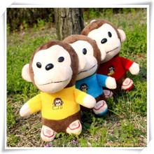 Pendentif de jouets en peluche de singe pour la promotion