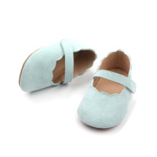 Green Baby Girl Shoes Småbarn Mary Jane Shoes