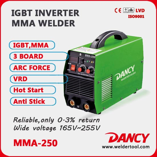 250A Mosfet inverter tech MMA welder 220v-v4 series