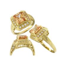 Antiguos anillos de compromiso para la boda con SGS prueba