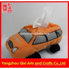 Venda de fábrica de carro de brinquedo de pelúcia em forma de caixa de tecido bonito tampa da caixa de tecido de carro