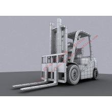 Máquina escavadora do raspador do carregador do caminhão de empilhadeira 8 toneladas