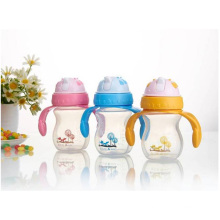 250ML Custom BPA Free Plastic Water Bottle For Children, Clear Plastic Drinking Water Bottle