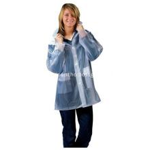 Adult Waterproof PVC Raincoats For Women