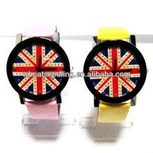 2013 moda Reino Unido flag design relógio de pulso para o amante JW-26